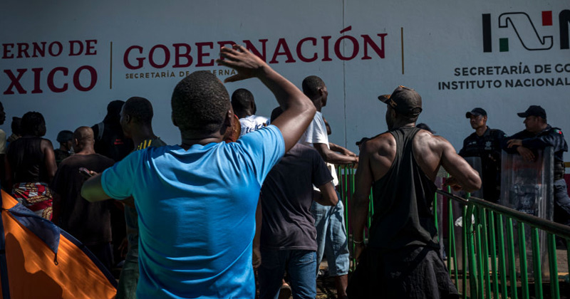 Watch: African Migrants Wanting Access to U.S. Attack Police in Mexico