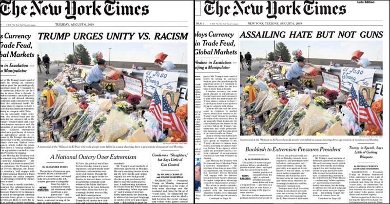 NYT Scraps Positive Trump Headline After Leftists Threaten to Cancel Subscriptions
