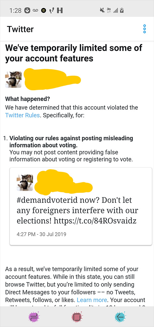 Twitter Suspends Accounts Using Hashtag #DemandVoterID