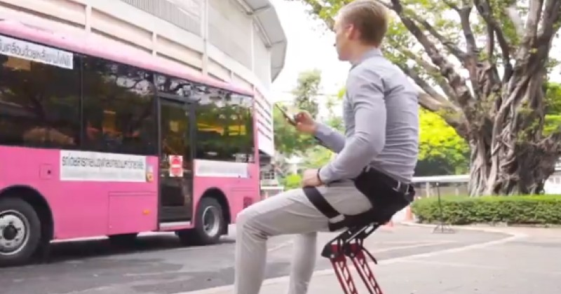 New 'Wearable Chair' Allows You to be a Sit Down Slave at All Times