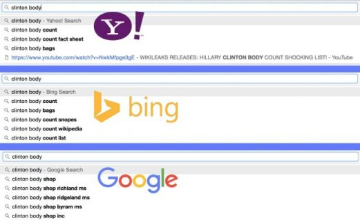 'Clinton Body Count' Autocomplete Suggestion Returns to Google Amid Antitrust Probes