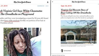 NY Times Removes Race Context After Black Girl Admits Faking Hate Crime