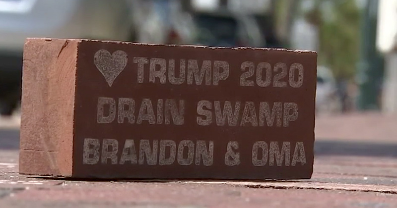 Pro-Trump Brick Removed From Sidewalk After Liberals Freak Out
