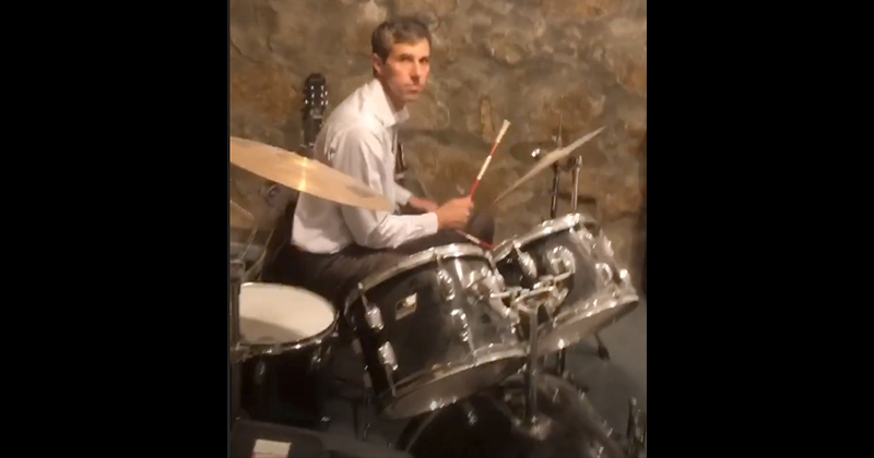 Midlife Crisis? Beto Plays Drums In Another Desperate Cringe Video