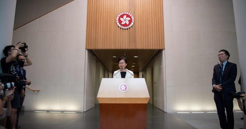 Hong Kong Leader Withdrawing Incendiary Extradition Bill