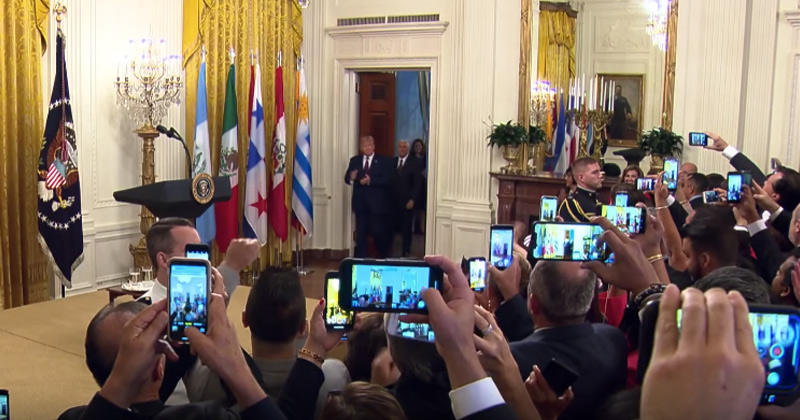 Trouble for Dems: Trump Receives Rock Star Treatment at White House Hispanic Heritage Month Event