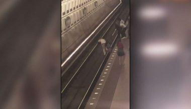 VIDEO: 'Nearly Half A Dozen Teens' Attack Man And Shove Him Onto Metro Tracks