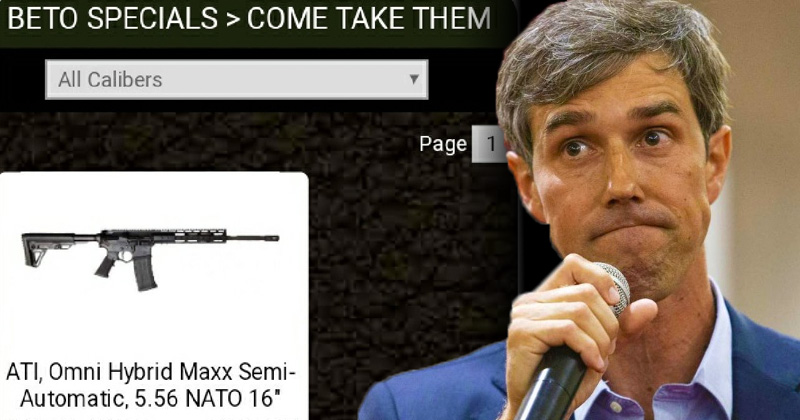 Gun Store Offers 'Beto Special' on AR-15 Rifle
