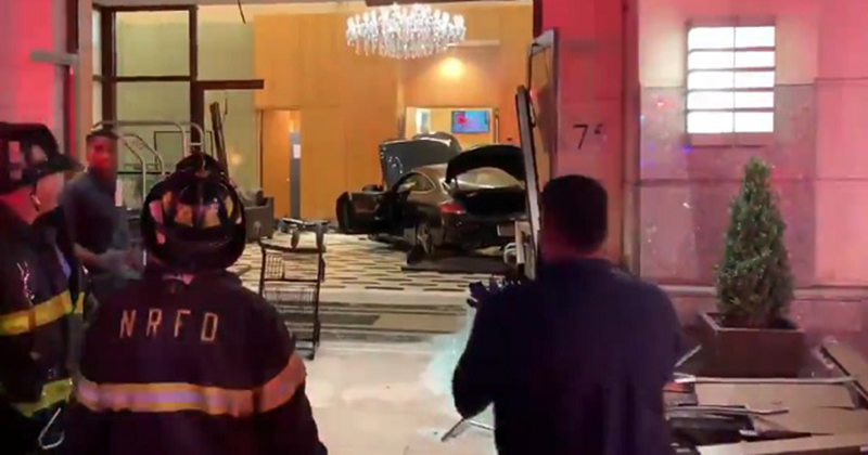 Man Smashes Car Into Trump Plaza In New York, Multiple Injuries Reported