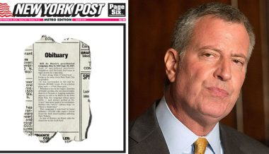 'Dead Of Ego-Induced Psychosis': NY Post Issues Obituary For De Blasio's Failed Presidential Campaign