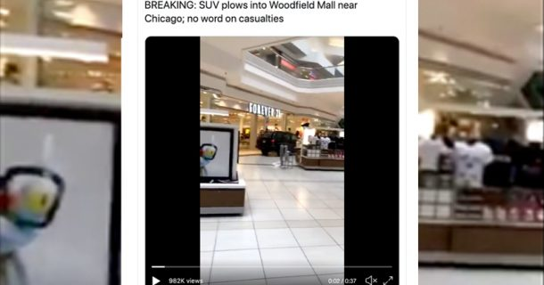 Video: SUV Driver Intentionally Plows Through U.S. Shopping Mall