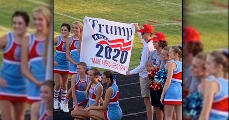 "Cheerleaders Punished For Displaying ""Trump 2020 MAGA"" Banner"