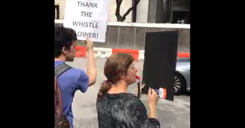 Live Now: Trump Protesters Release Brand New Whistleblowing Technology To Destroy POTUS