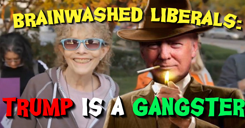 Video: Brainwashed Liberals Believe Trump is a Gangster