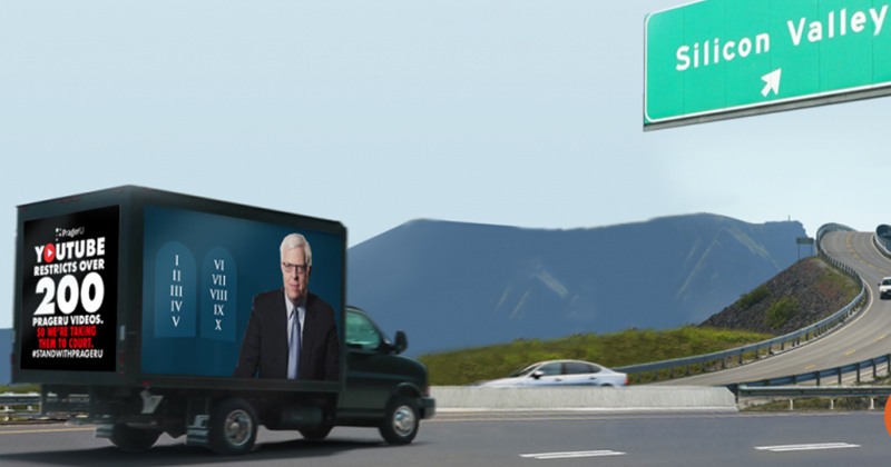 PragerU Truck to Air Banned Videos In Front of YouTube HQ