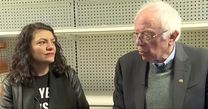 """""""Breadline"""" Bernie and Tlaib Push Socialism In Front of Empty Store Shelves"""