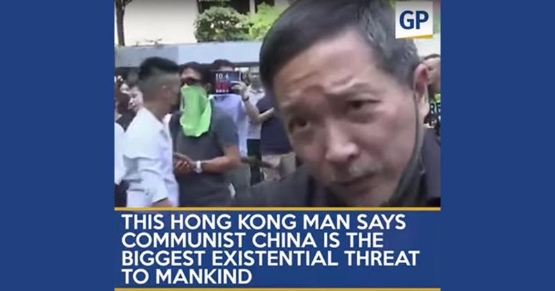 Hong Kong Protester's Message - Communist China Mankind's Greatest Threat