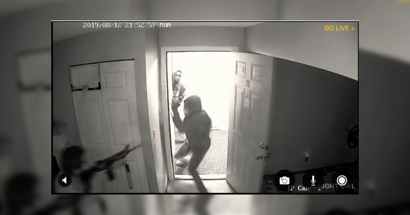 Video: Home Invaders Run From AR-15 Pointed At Them