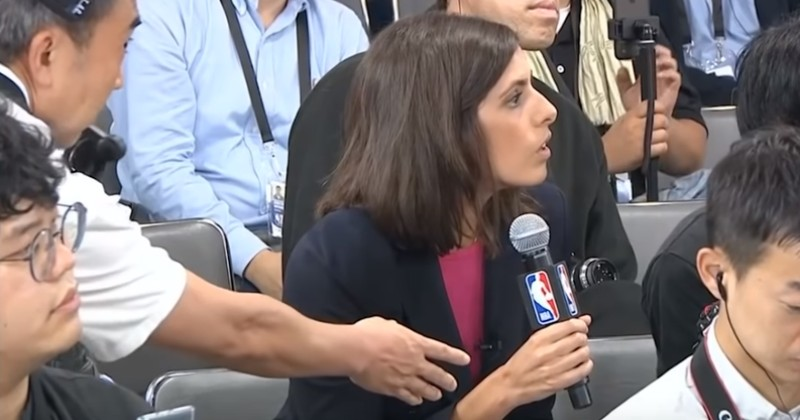 Reporter Silenced After Asking NBA Stars About China