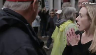 Video: Protester Spits in Face of Trump Supporter During VICE Interview