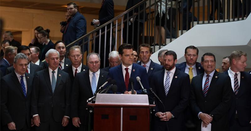 Republicans Storm Democrat Castle During Secret Impeachment Hearing