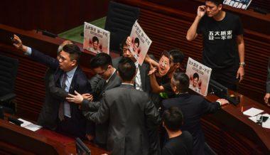 Hong Kong Leader Abandons Annual Speech Amid Protests