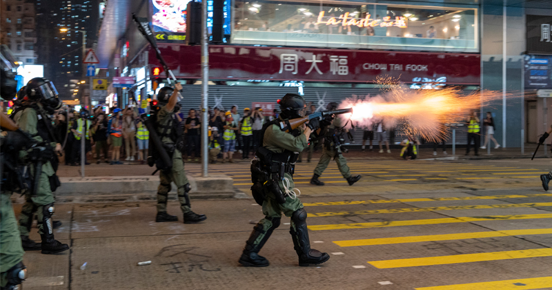 Hong Kong Plunges Into Recession as Months of Violent Protests Take Toll on Economy