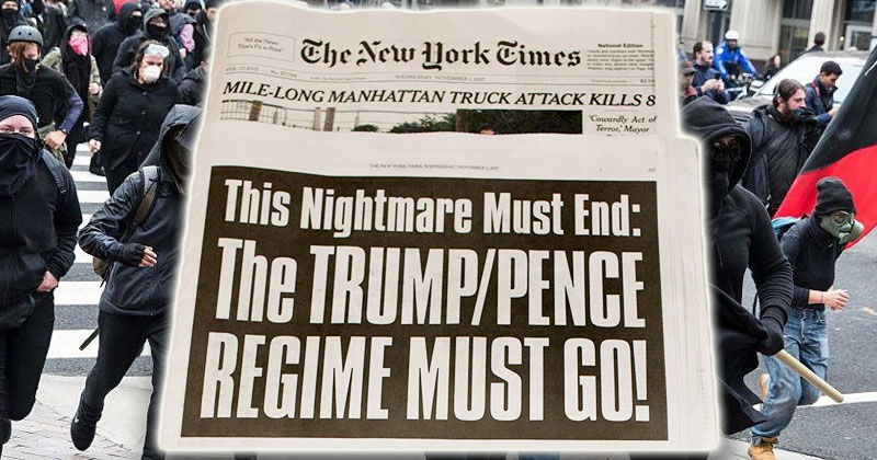 Soros/Deep State-Backed Antifa Publicly Announces Plan To Drive Trump From Office