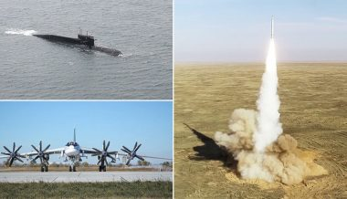 Putin Presides Over Massive Missile Exercise Involving Submarines, Bombers, More