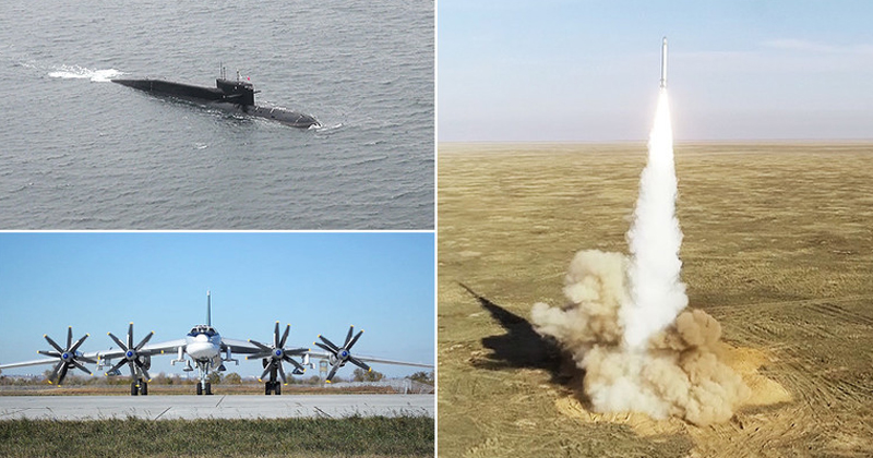Putin Presides Over Massive Missile Exercise Involving Submarines, Bombers, More