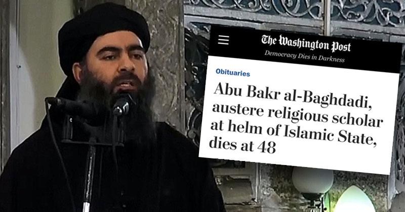 "Washington Post Honors ISIS Leader al-Baghdadi As ""Religious Scholar"" in Obituary"