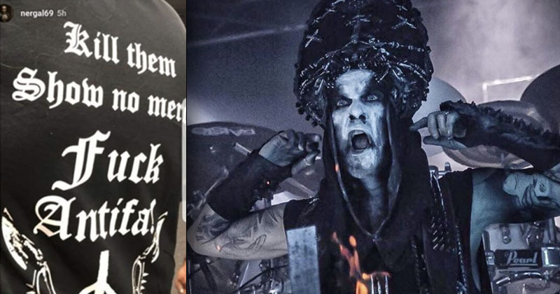 Behemoth Frontman Attacked By Woke Left For 'Black Metal Against Antifa' T-Shirt