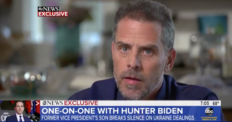 "Hunter Biden Snaps at Interviewer to Ask Rehab Questions ""Nicer"""