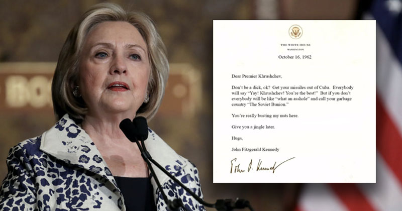 More Veiled Threats? Hillary Clinton Taunts Trump With Fake Letter Of Assassinated President