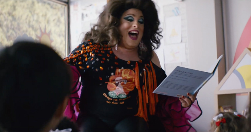 Insurance Company Ad Features Drag Queen Reading to Children