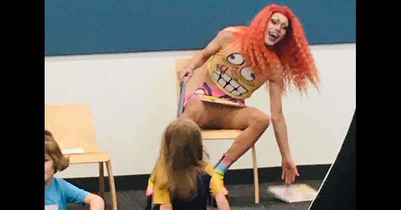 Drag Queen Flashes Crotch at Children Inside Public Library