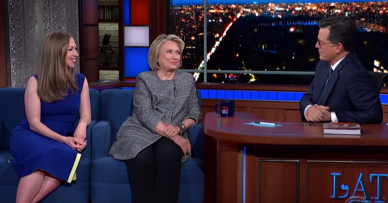 Video: Colbert & Hillary Co-opt 'Lock Her Up' Chant to Demonize Trump