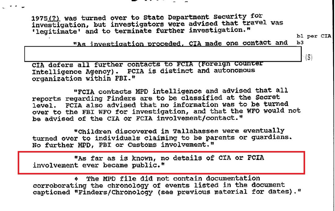 FBI Declassifies Documents On Secret Pedophile Group 'The Finders'