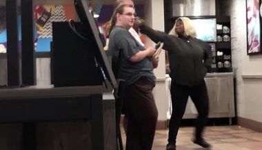 Shock Video: Mother Slashes Stranger's Throat At Taco Bell After He Told Her To Stop Berating Employees