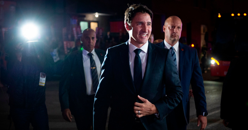Trudeau's 'Victory Speech' Turns Into Scandal as He Interrupts Rival's Address