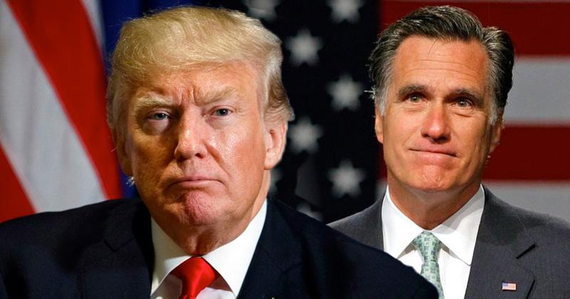 Presidential Loser Mitt Romney: Trump's Calls to Investigate Joe Biden 'Wrong, Appalling'