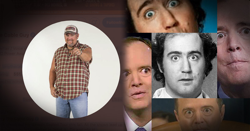 Did Twitter Censor Larry The Cable Guy For Making Fun Of Adam Schiff?