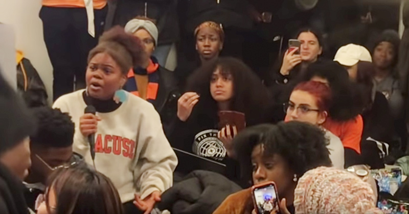 Black Students At Syracuse U Protest In Favor Of Self-Segregation