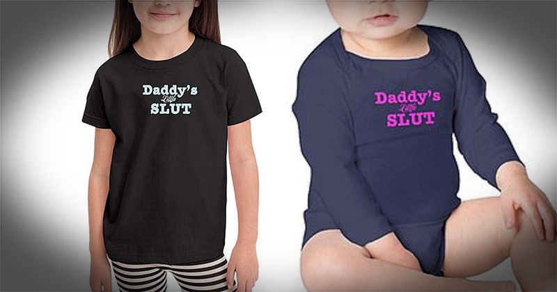 "Amazon Accused of Promoting Pedophilia For Baby Clothes Reading, ""Daddy's Little Slut"""
