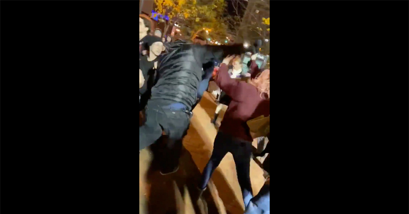 Kaitlin Bennett Attacked by Antifa Outside Trump Rally
