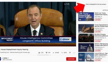 Transparent? C-Span Disables Chat During Public Impeachment Hearing