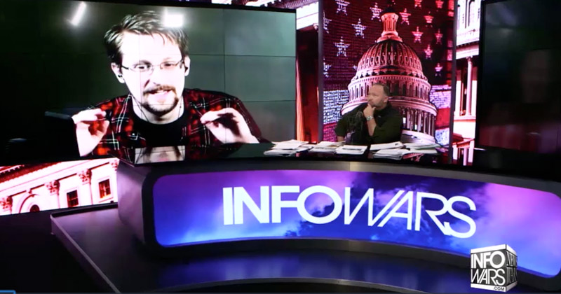 Alex Jones Challenges Joe Rogan And Edward Snowden