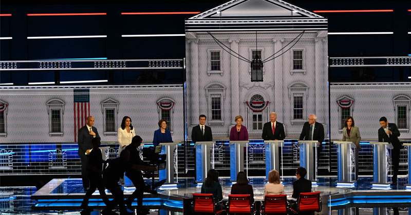 Next Level Crazy Town! Dem Debate Descends Into Open Insanity as The Satanic Snake Eats Itself