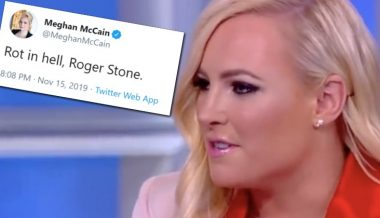 "Meghan McCain Faces Twitter Backlash For Telling Roger Stone to ""Rot in Hell"""