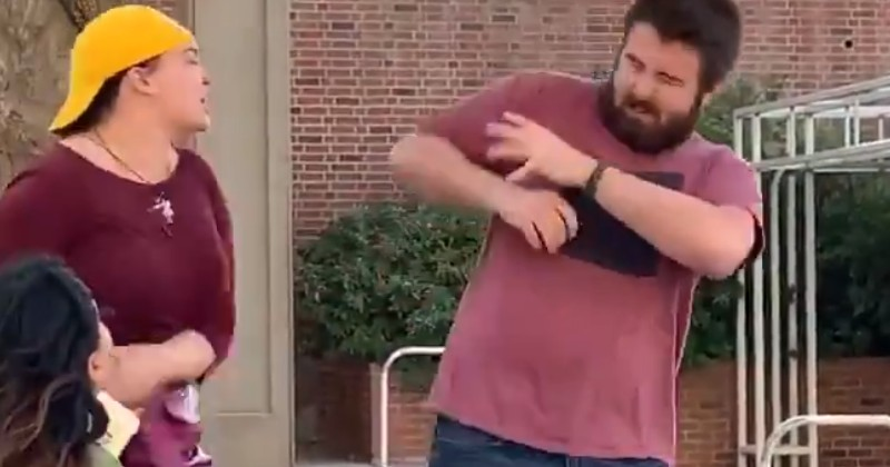 Video: Student Leftist Has Violent Hissy Fit Over 'All Lives Matter' Sign